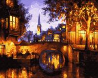 Картина по номерам 40*50 Красота вечернего города 21921