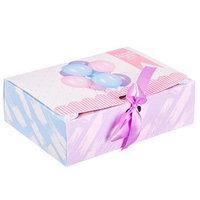 """Коробка складная подарочная """"Поздравляю"""" 16,5*12,5*5 см"""