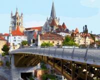 Картина по номерам 40*50 Лозанна. Швейцария. 21171