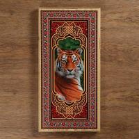 """Нарды """"Тигр"""", деревянная доска 60х60 см, с полем для игры в шашки , микс"""