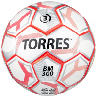 Мяч футбольный TORRES BM 300, размер 3, TPU, машинная сшивка, 28 панелей, 2 подслоя