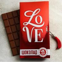 Шоколад молочный Love, 85 гр.
