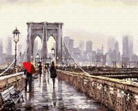 Картина по номерам 40*50 Прогулка по мосту 22891