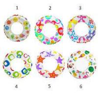 Надувной круг разноцветный (61см) INTEX