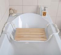 Сиденье для ванны раздвижное, деревянное