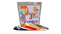 UNID Набор пластика для 3D ручек: ABS-12  (по 10 м. 12 цветов)