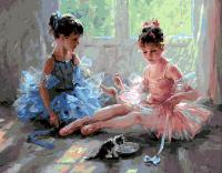 """Картина по номерам 40*50 """"Юные балерины"""" 10063"""