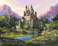 """Картина по номерам 40*50 """"Замок в горах"""" 20810"""